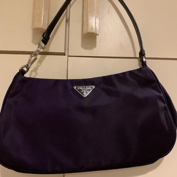 1e19ea6f3f12 Prada Bags | Nylon Mini Bag In Dark Purple | Poshmark
